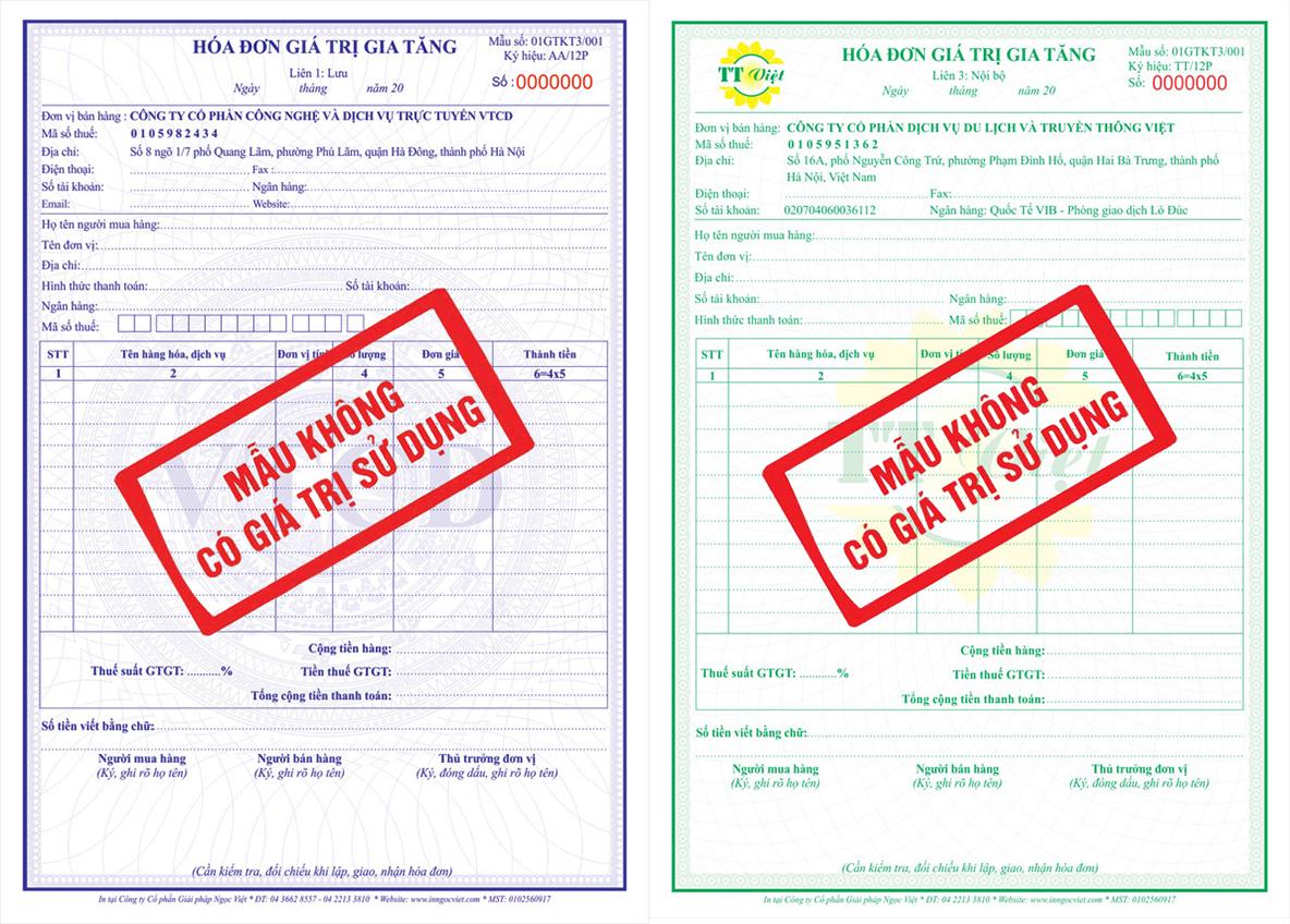 Thiết kế Hóa đơn - VAT