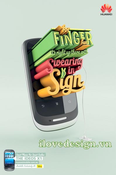 Mẫu thiết kế quảng cáo 3D typography sáng tạo của Arnold Furance