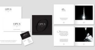 Brochure hai màu đen – trắng