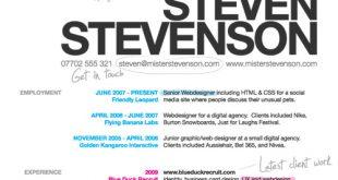 cv for designer