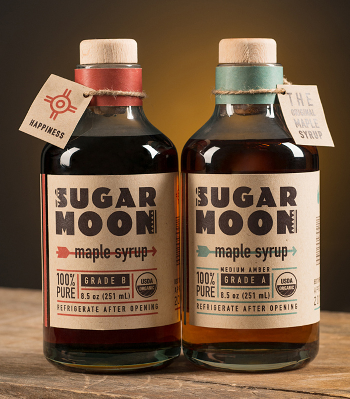 Sugar Moon Maple Syrup Packaging by Andrea Romero