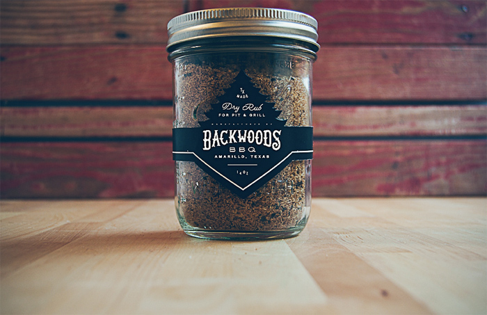 Backwoods Dry Rub Packaging by Sturdy