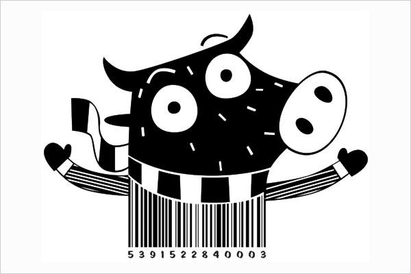 mẫu barcode sáng tạo