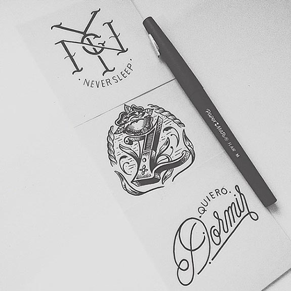 Lettering sáng tạo của Raul Alejandro